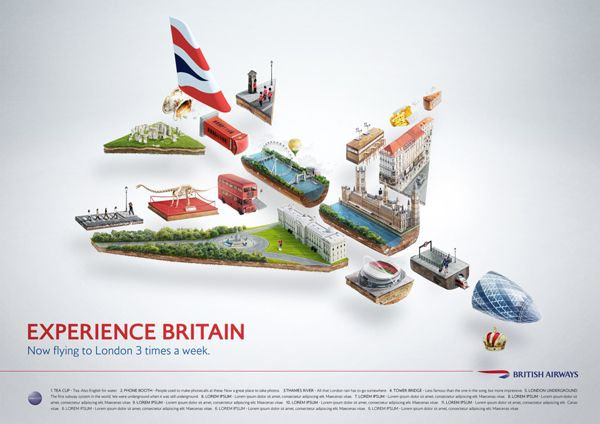British Airways - Experience Britain by Peter Jaworowski, via Behance
