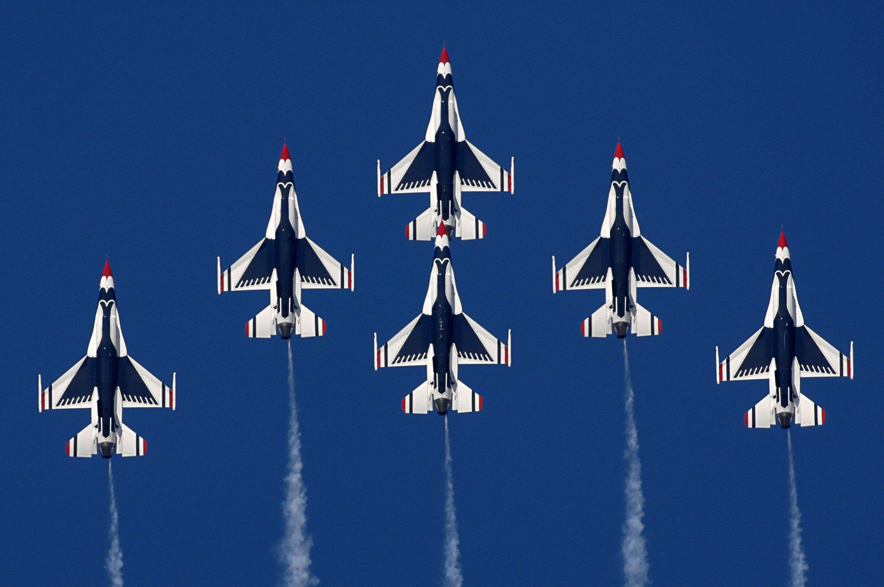 Warplanes Illustrated Air Force Wallpaper Usaf Thunderbirds Air Show