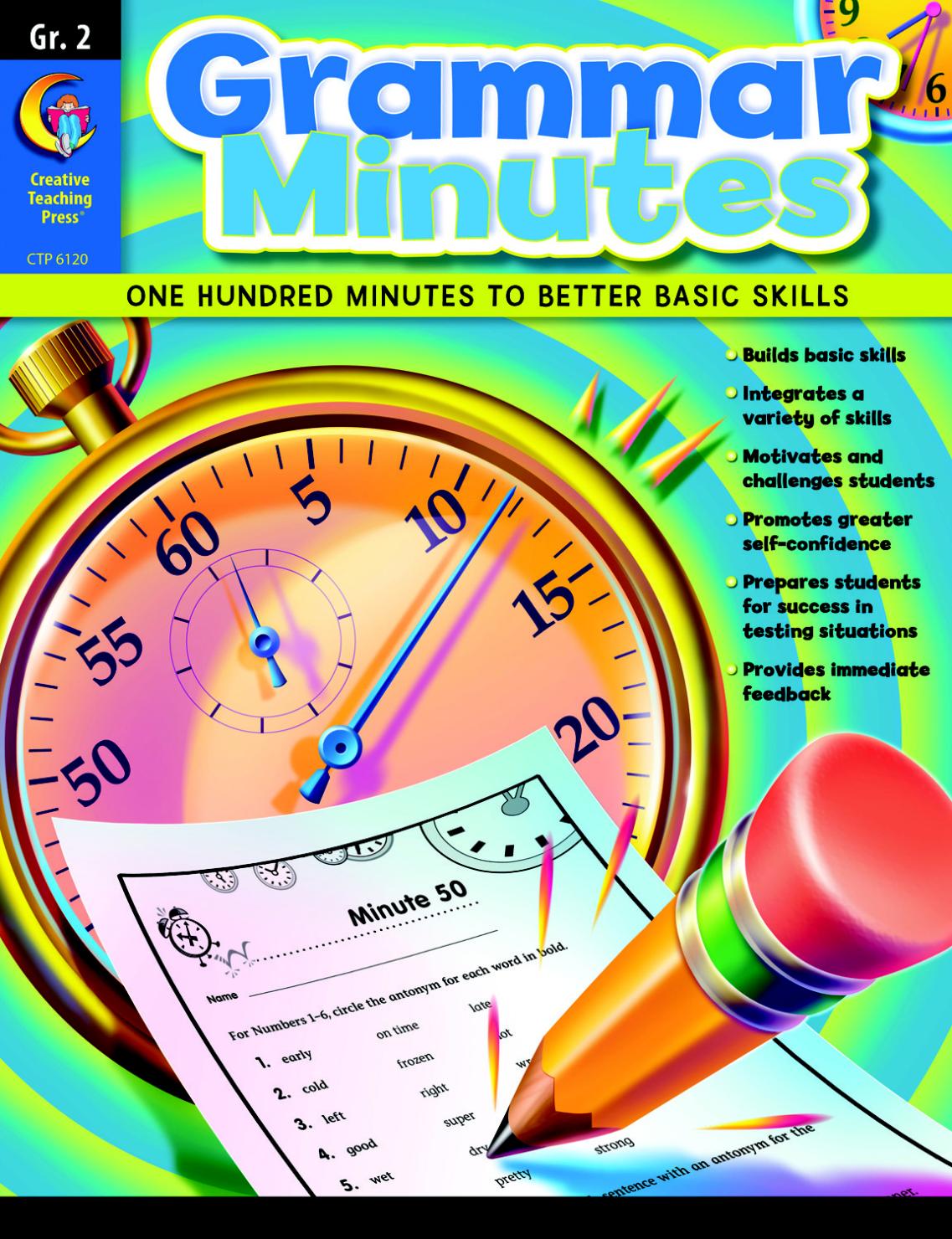 worksheet Creative Teaching Press Worksheets creative teaching press grammar minutes grade 2 classroomdirect mycdwishlist