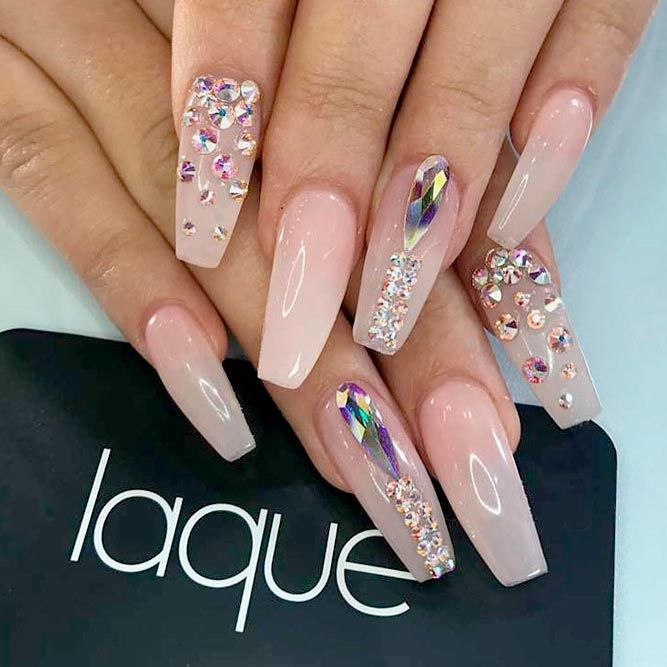 Best Long Nail Designs for Glamorous Girls ☆ See more:  https://naildesignsjournal - 45 Best Long Nail Designs For Glamorous Girls Nail It Down Nail