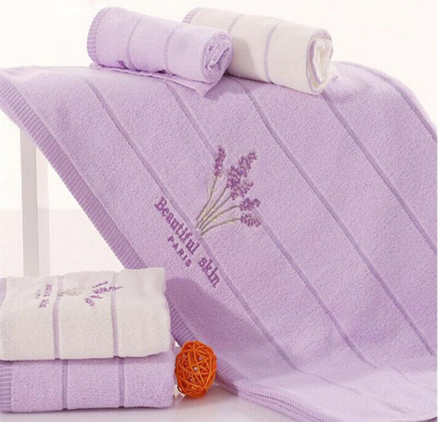 Printed Embroidery Aromatherapy Bath 100/% Cotton Hand Lavender Face Towel