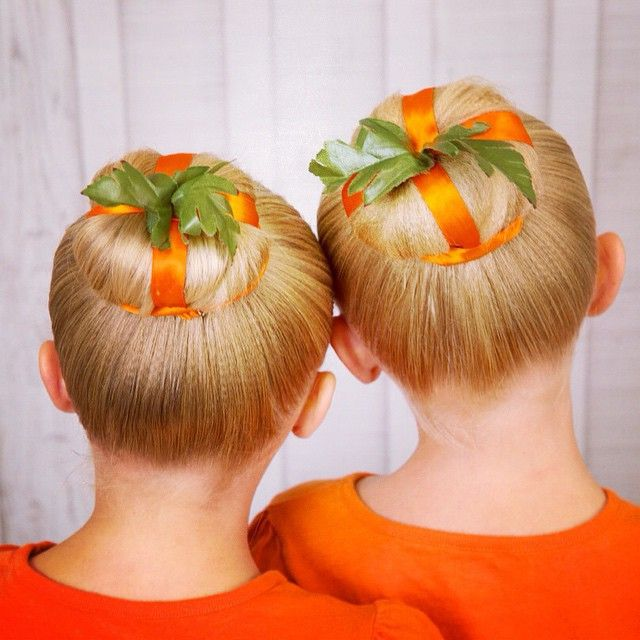 pumpkin hair buns bun ideas