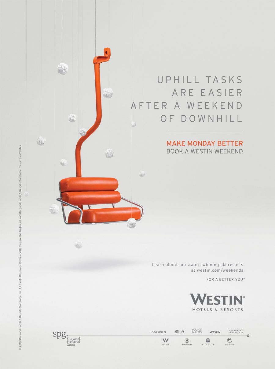 Brand Design Webber Represents Westin Hotels