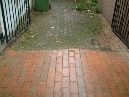 power wash before and after brick