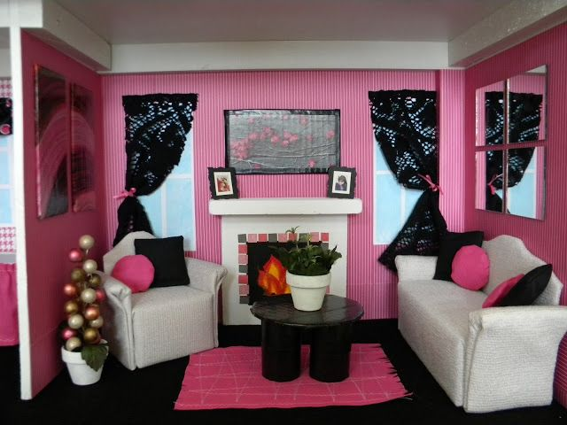 Over The Apple Tree: DIY Barbie House.I Want To Do The Living Room In My  House Like This Part 38