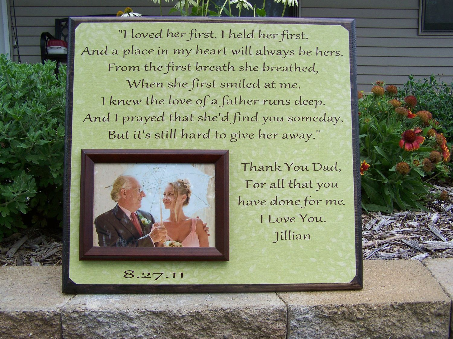 I Loved Her First Picture Frame For The Father Of The Bride