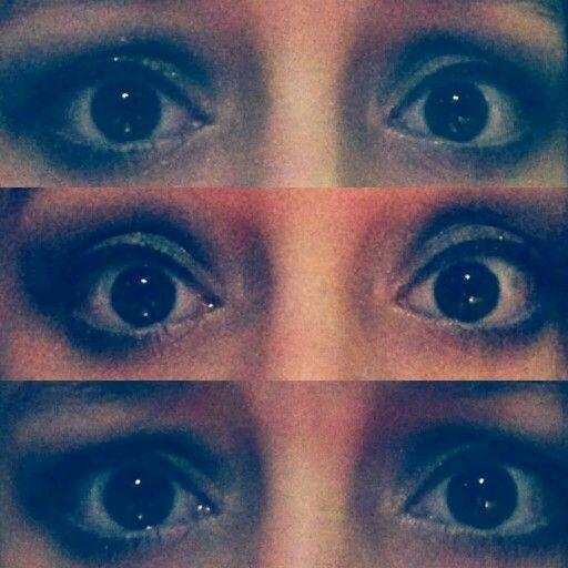 Eyes made to look big with grey smokey eye