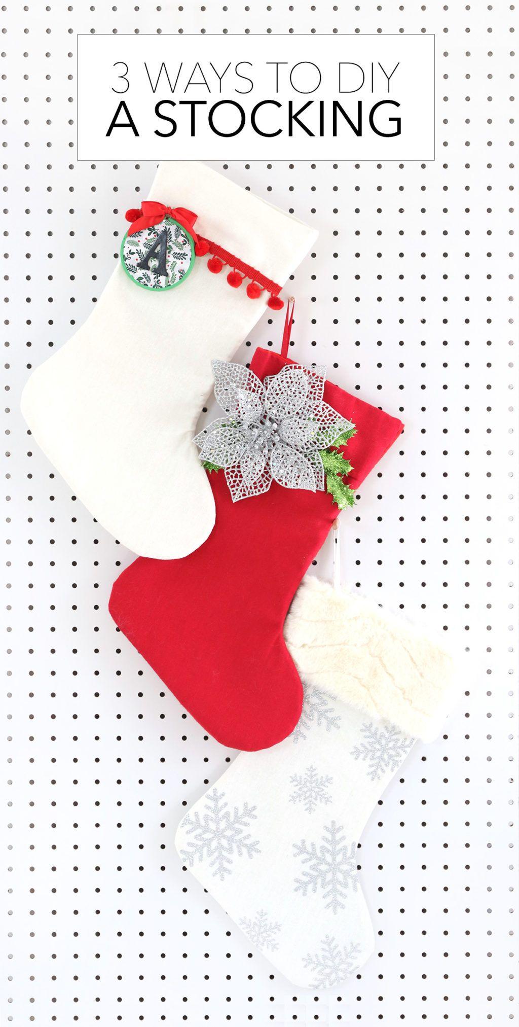 Three Ways to Decorate a Stocking Christmas