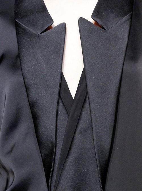 Sleek black jacket with inverted lapels by Stella McCartney
