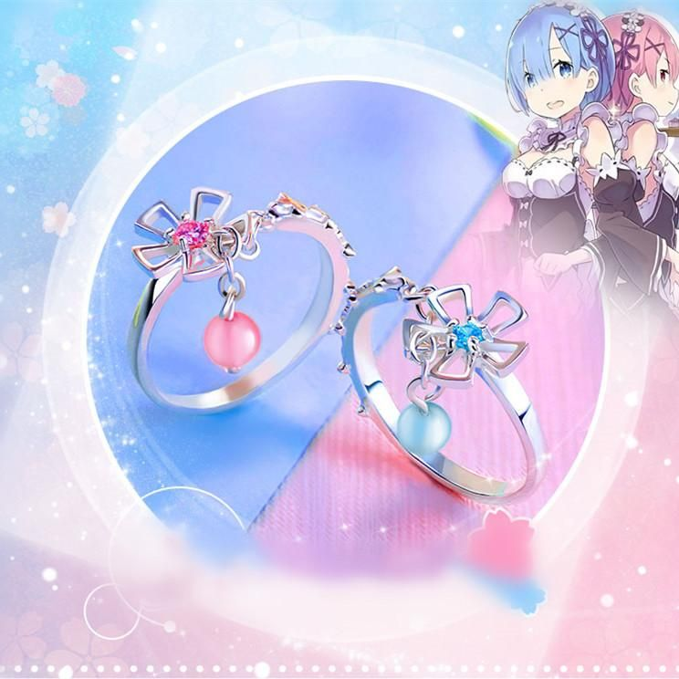 Re: Life In A Different World From Zero- Rem Ram Silver Ring CP178736