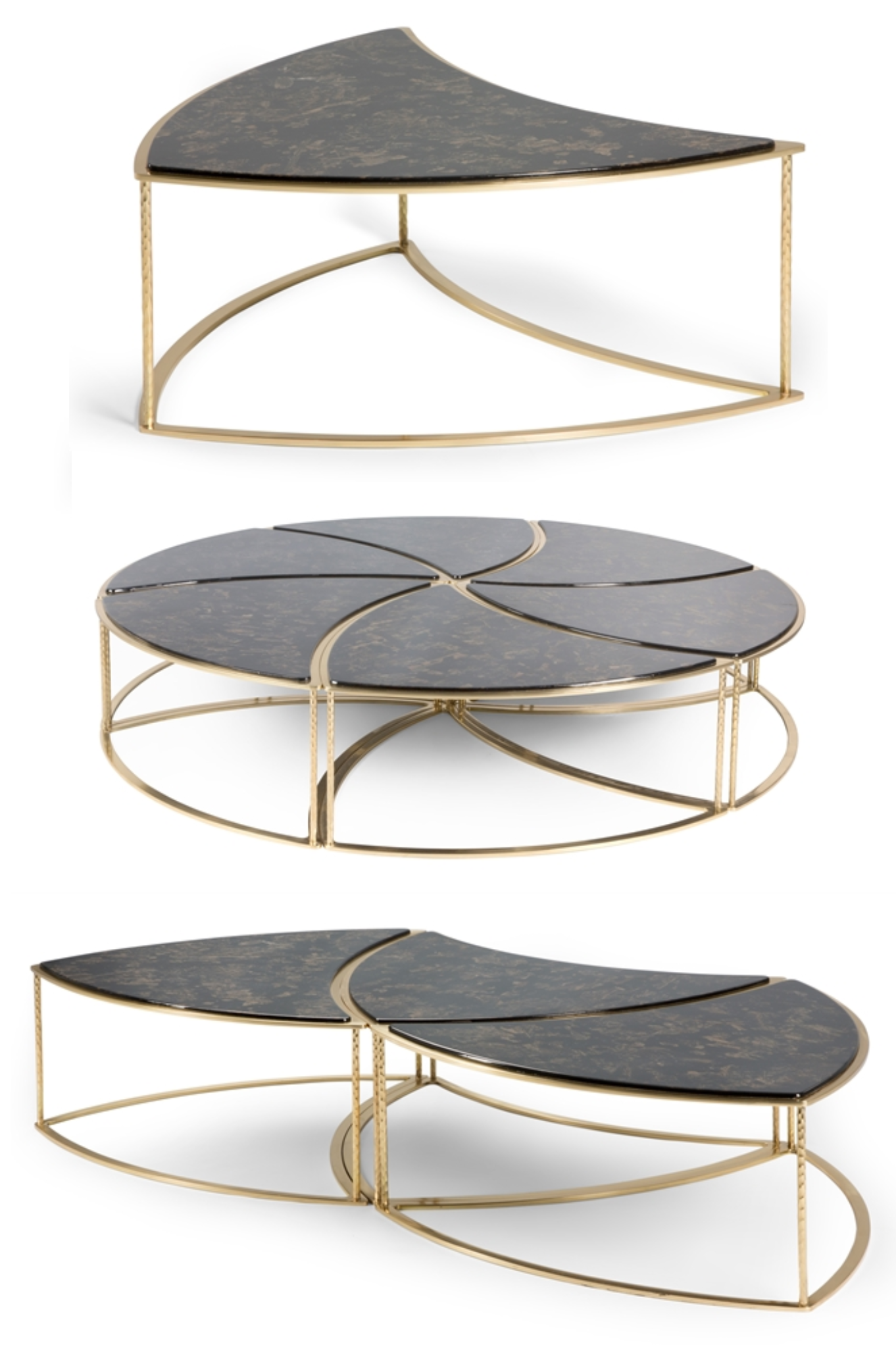 This unique 6 piece modular coffee table is available in 3