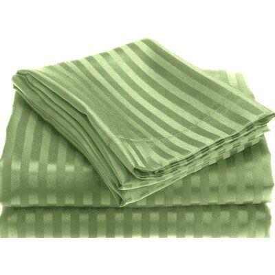 Alcott Hill Lecuyer Soft Touch Embossed Stripe Microfiber Sheet Set | Wayfair