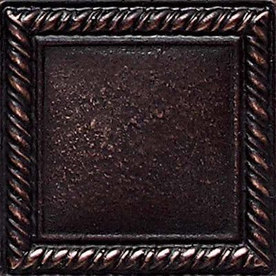 Daltile Ion Metals 2 X Decorative Rope Accent Tile In Oil Rubbed Bronze