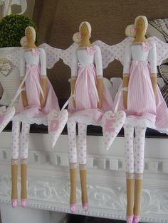 pink polk a dot angels tilda - Ngel Muster Selber Machen