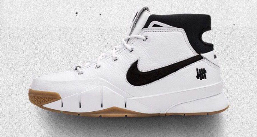 2118dc7c386d Undefeated x Nike Zoom Kobe 1 Protro White Gum