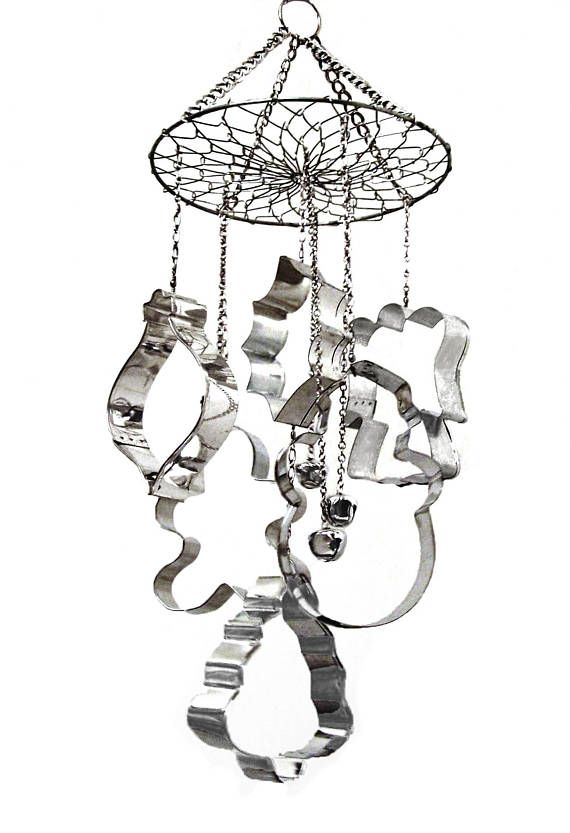 wind chime mobile winter christmas holiday angel snowman