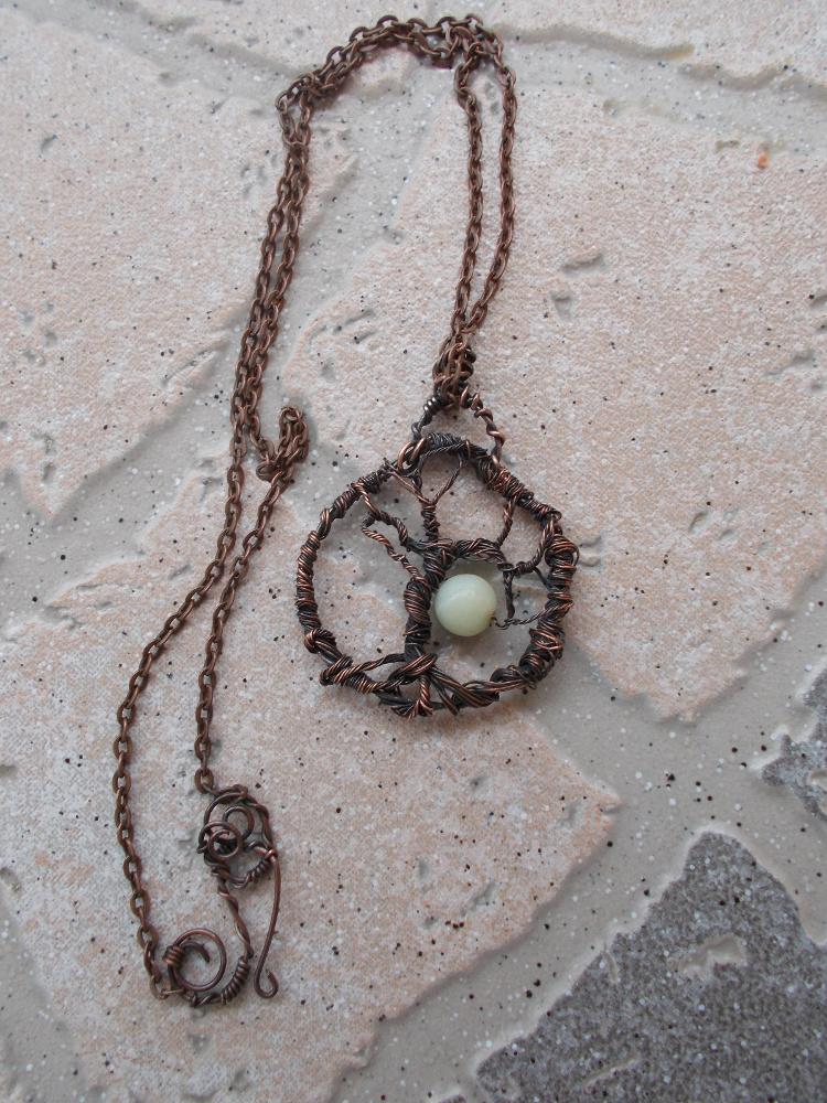Élet fája, drótékszer, nyaklánc, medál Pendant necklace