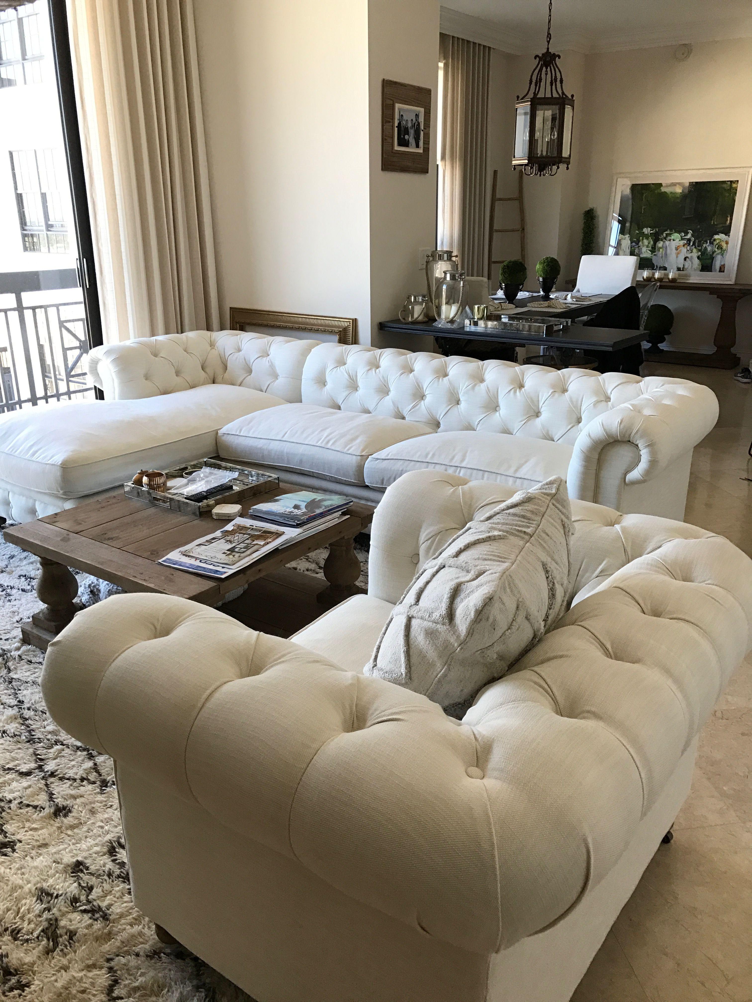 Restoration Hardware Kensington Sofa And Chair Paint Color Divine White Sherwin Williams Beige Sofa Living Room Beige Living Rooms Beige And White Living Room #paint #my #living #room