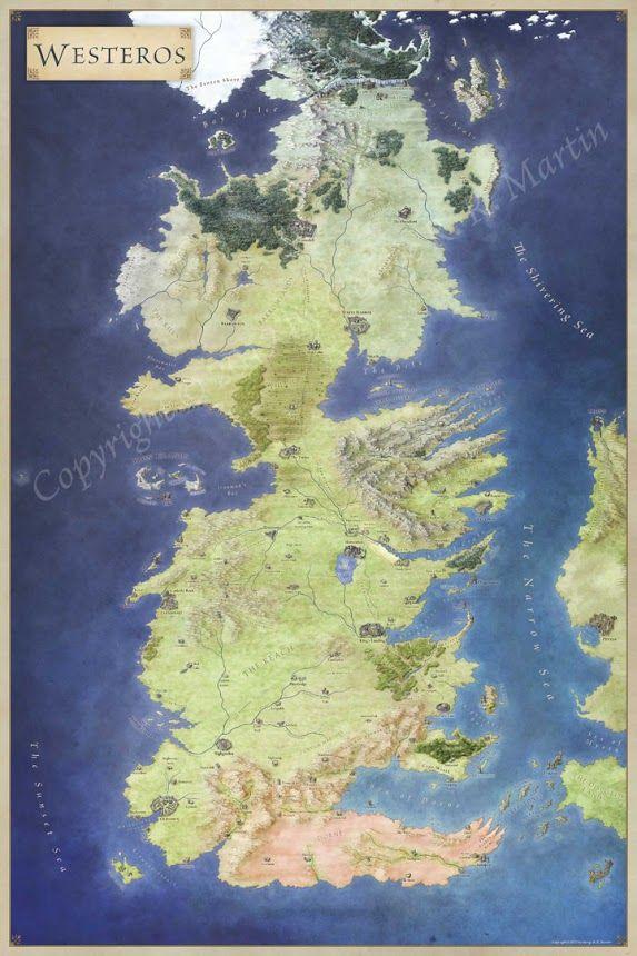 Westeros Maps Pinterest