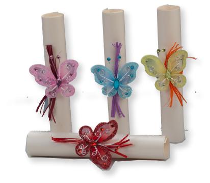 17015 invitación de boda original pergamino con mariposas ...