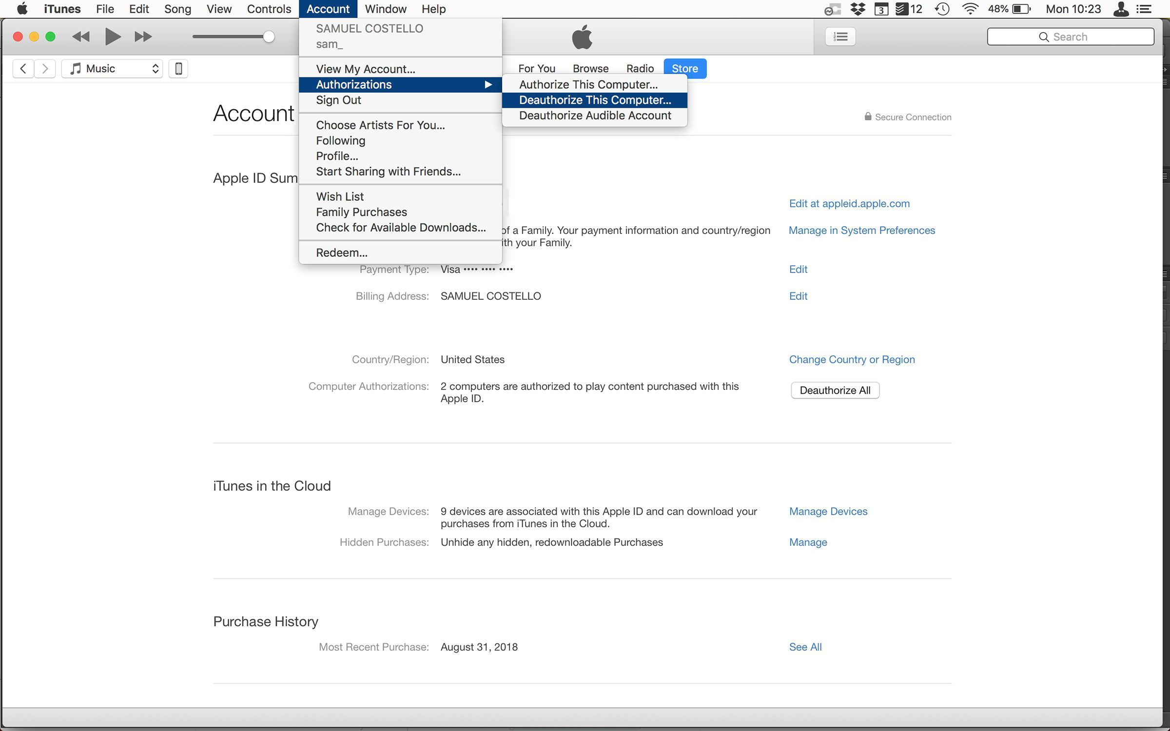 How to Deauthorize iTunes on Old or Dead Computers