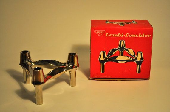 Mid-Century BMF Combi-Leuchter Modular Candle Holder - West Germany - original box - excellent condition $45