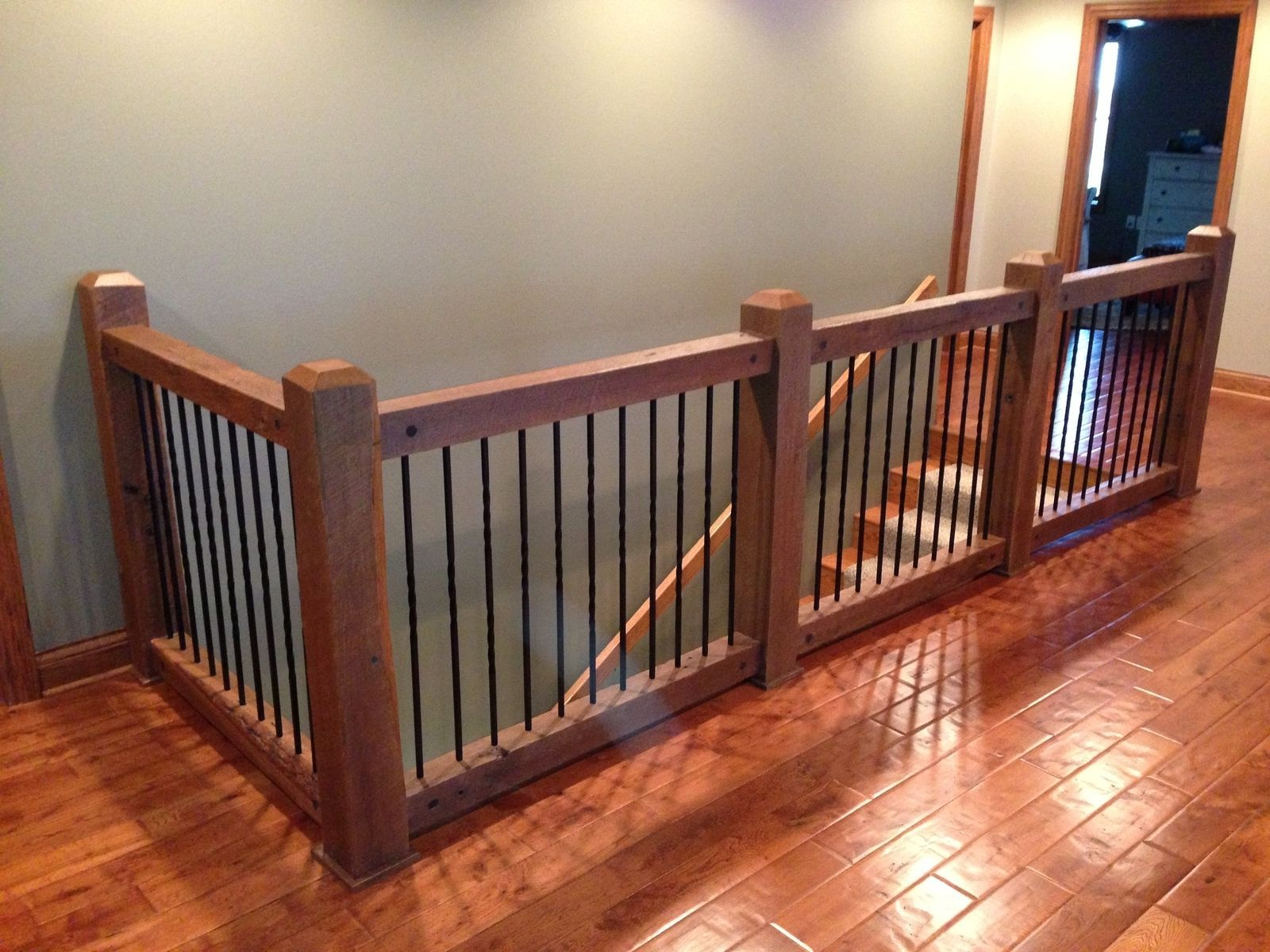 Custom Made Reclaimed Stair Railings | Woodworking ...