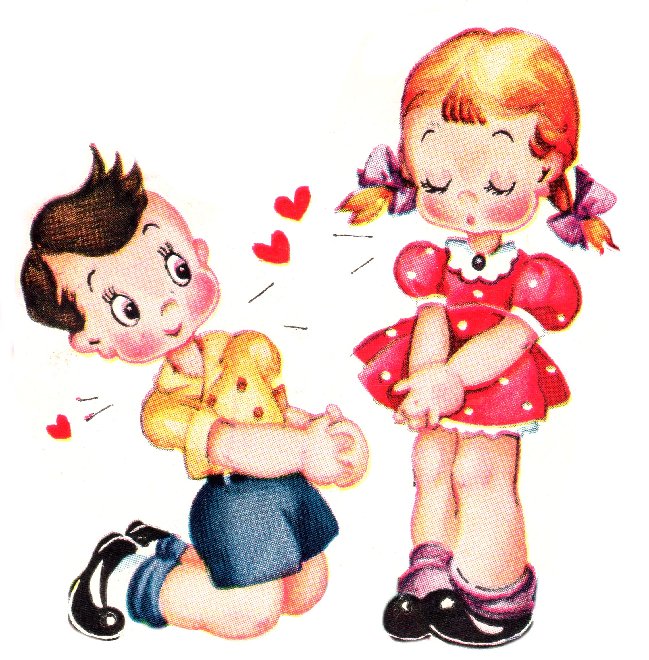 Cute Vintage Valentines Day Clip Art