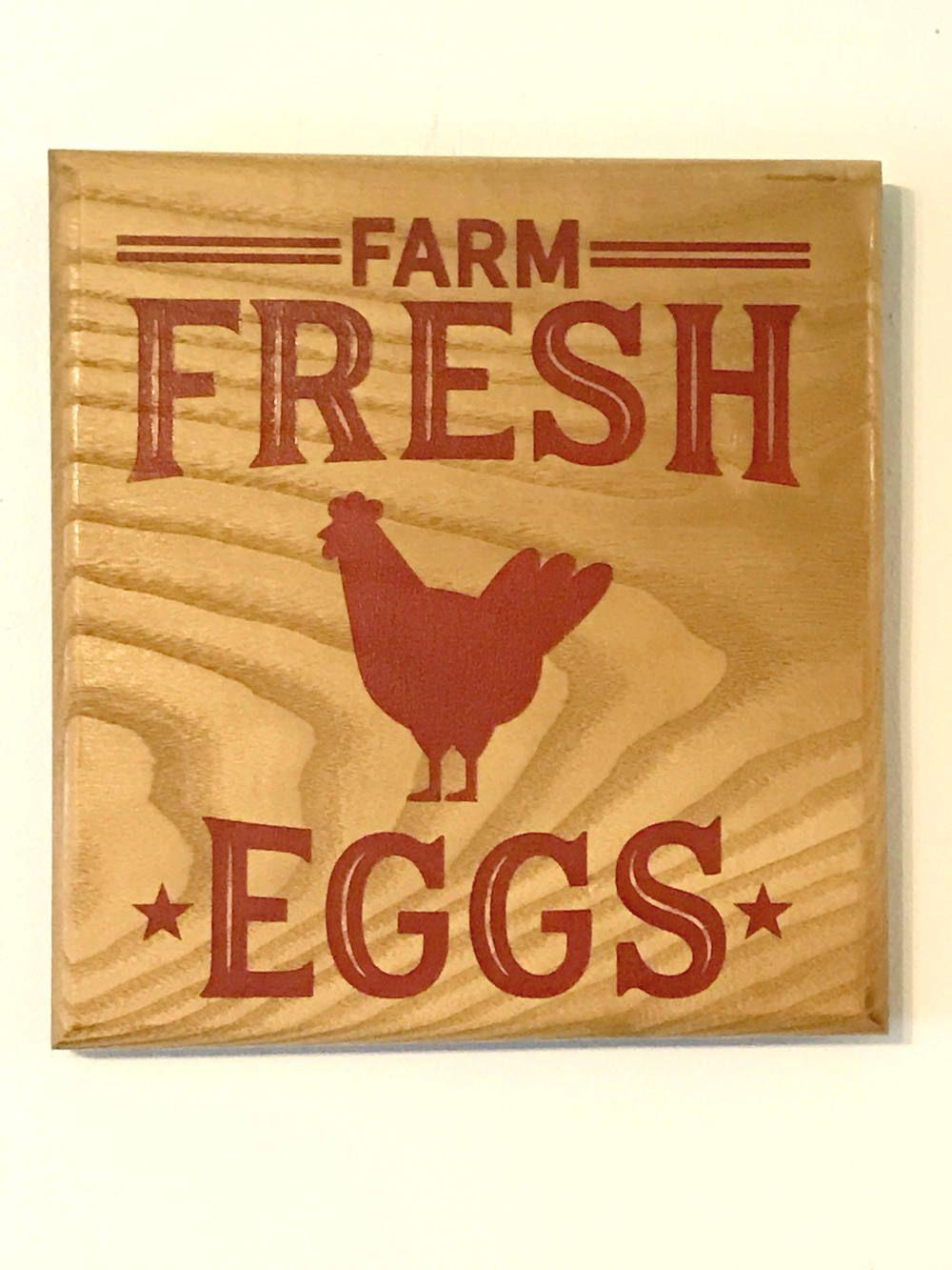 Country home decor Chicken decor chicken sign fresh eggs sign