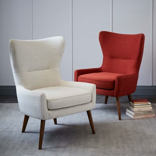 West Elm Erik Upholstered Wing Chair In 2019 Wing Chair Living