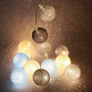 Lighting Arena Guirlande lumineuse USB Cobalt LED 16 boules