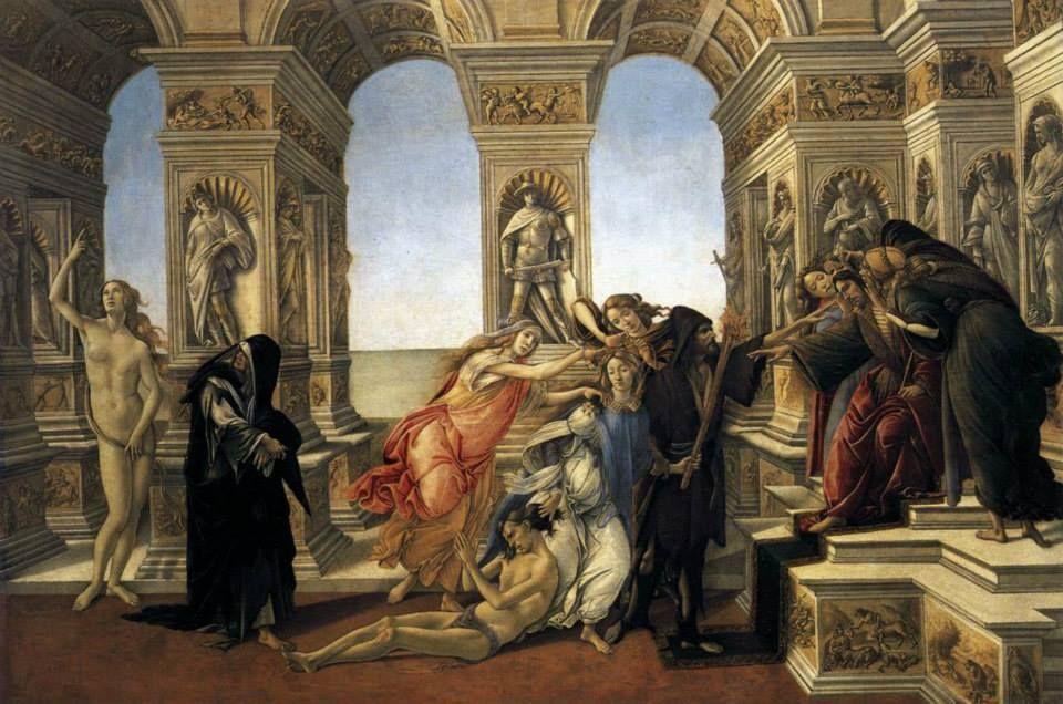 Sandro BOTTICELLI - La Calunnia 1496 - Galleria degli Uffizi, Firenze.