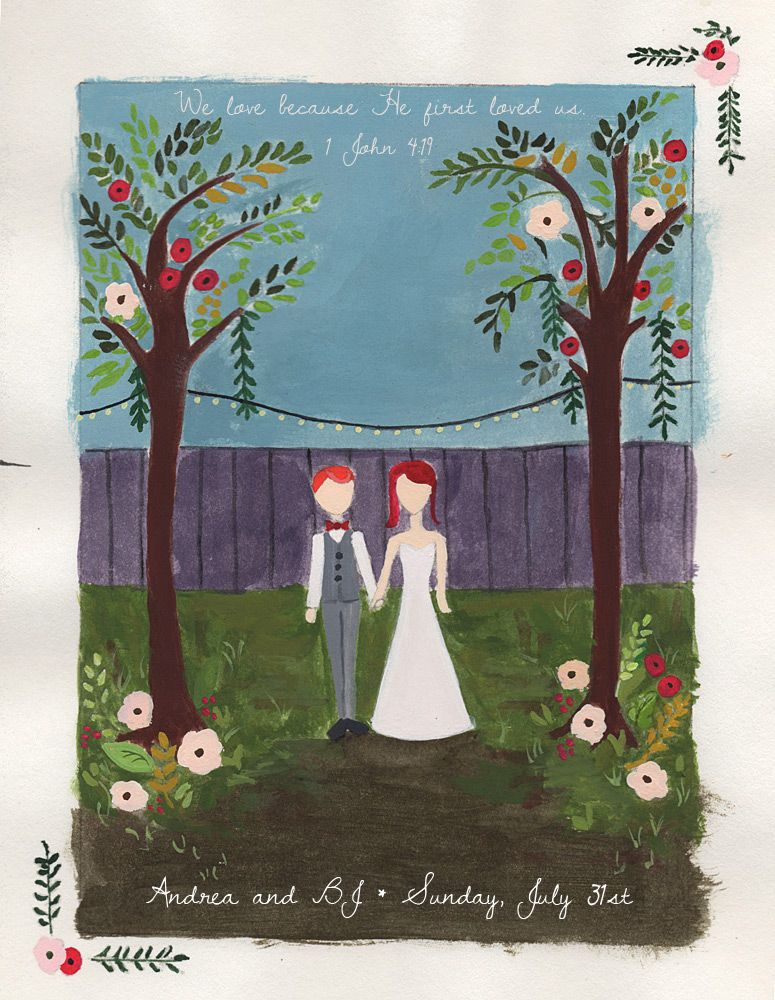 our hand-painted invitation