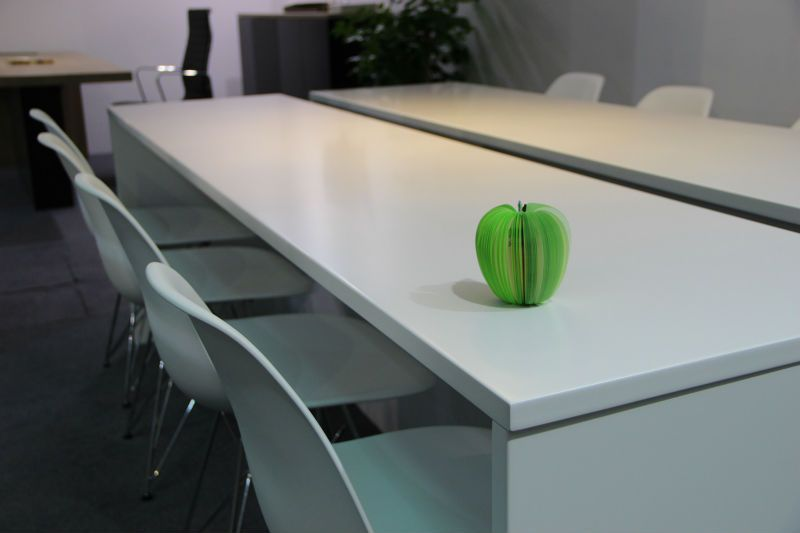 Modern Conference Table White | Conference Table Modern Design, Meeting  Table Desk, MDF Meeting