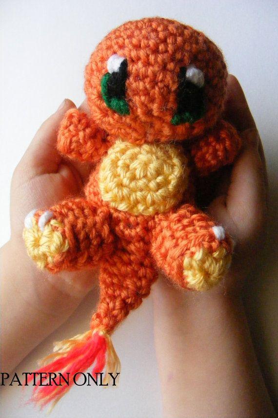 PATTERN Baby Charmander Pokemon Chibi Crochet Amigurumi PATTERN ...