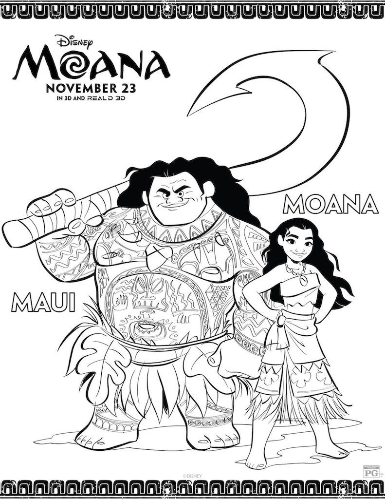 Free Printable Moana Coloring And Activity Sheets Desenhos