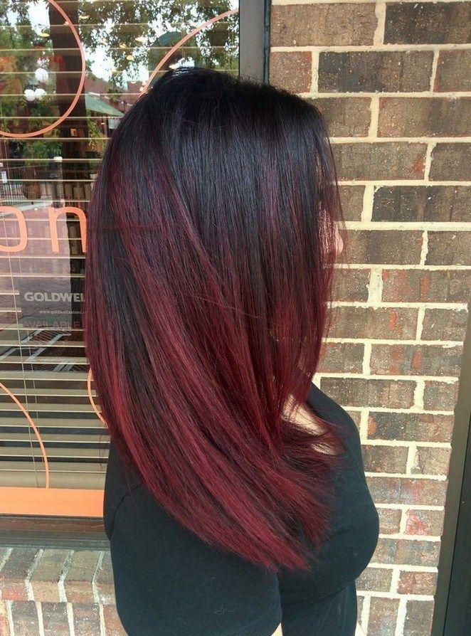 картинки волос омбре черно-вишневый