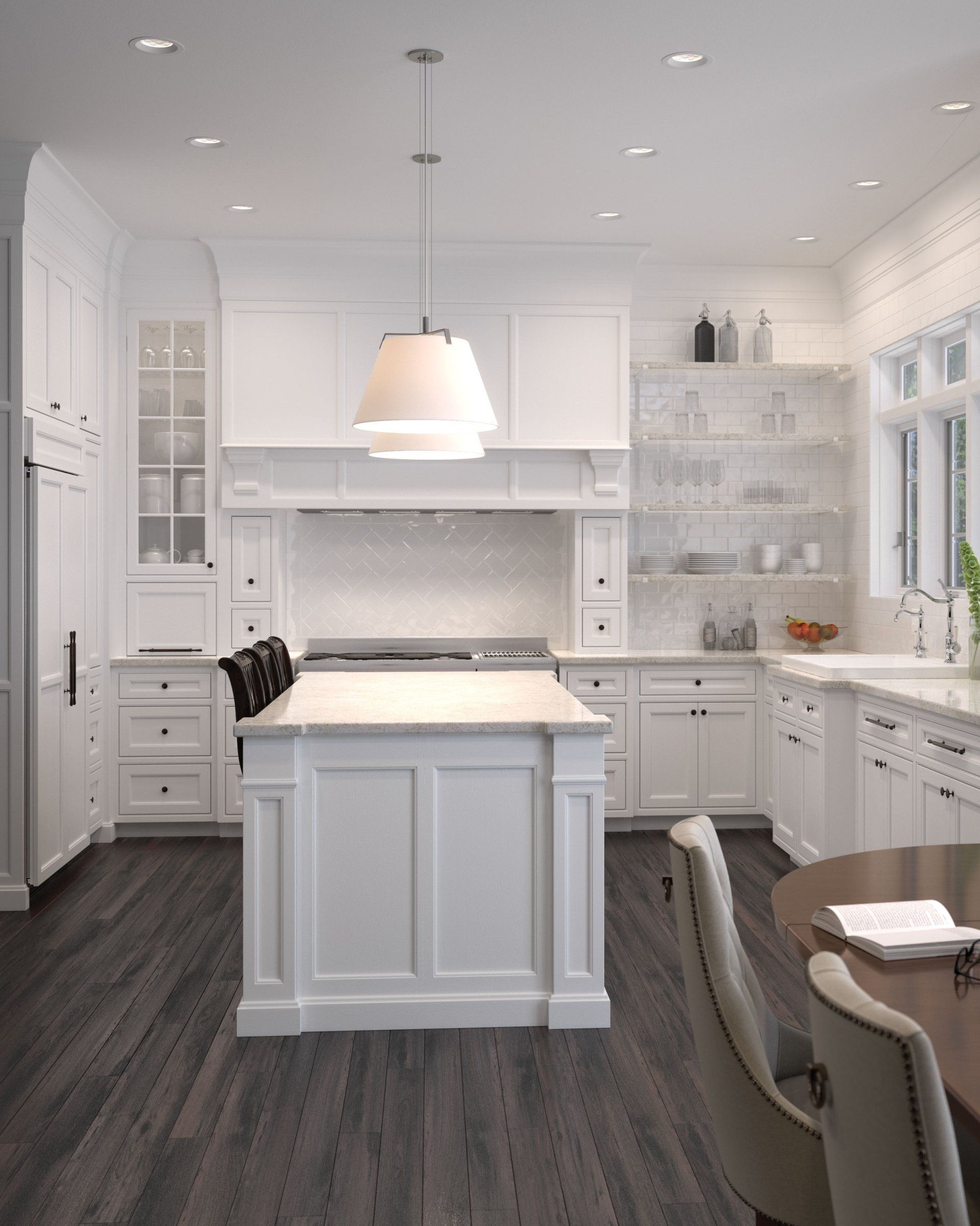 Kitchen Lighting Tip: A bright ceiling creates a bright ...