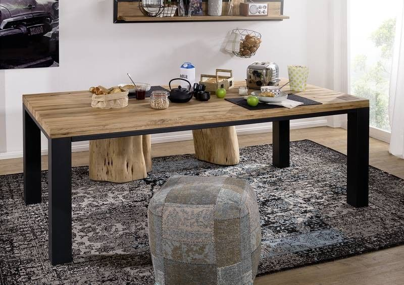 Modern Aus Wildeiche Holz Geolt Natur Esstisch Kuche Tisch