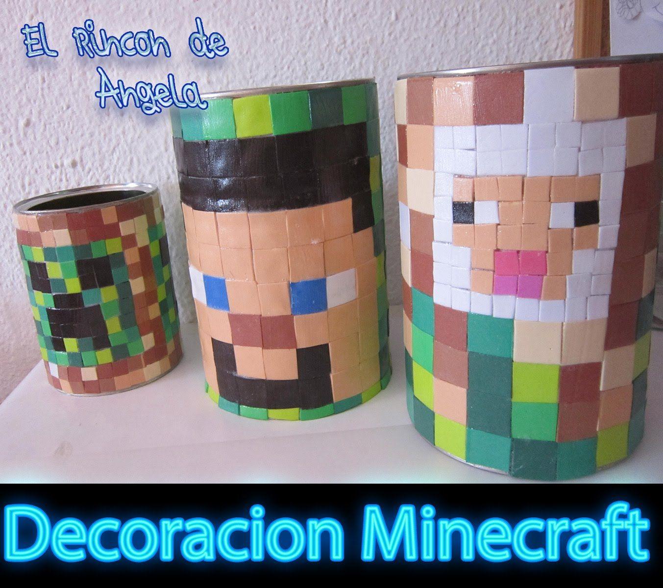 DIY Como decorar estilo minecraft con goma eva o foami | Ideas para ...
