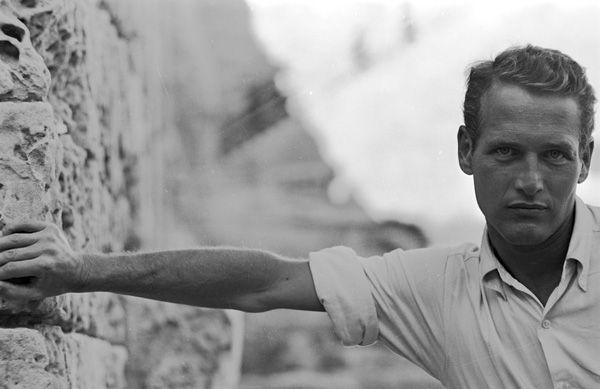 """Paul Newman during """"Exodus"""" (1959) Photo: Leo Fuchs."""