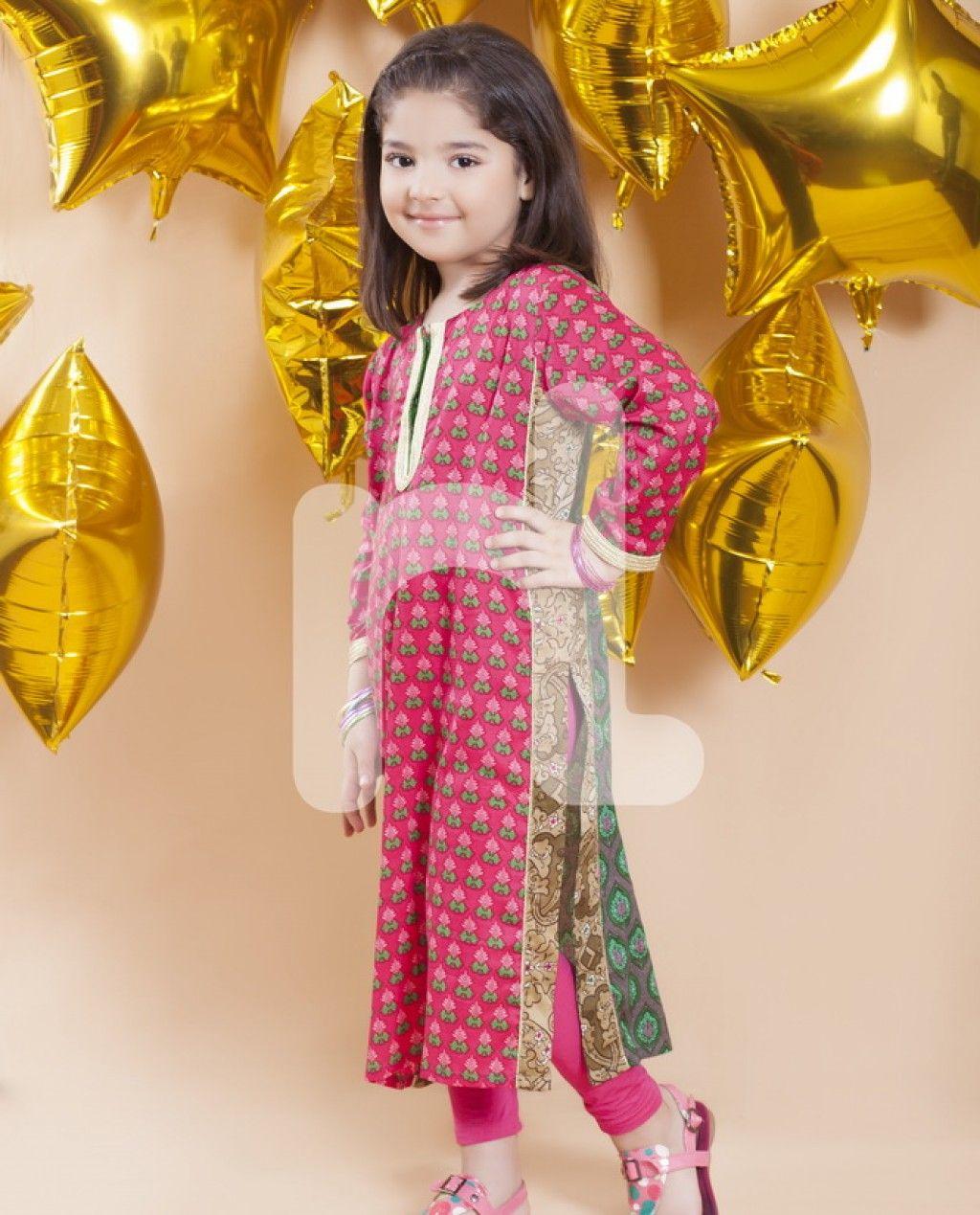 Eid kids kurta shalwar kameez designs 2013 2014 - Nishat Linen Kids Wear Eid Collection