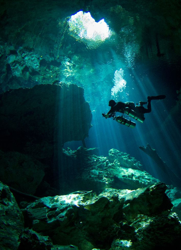 Cenote scuba diving Riviera Maya