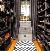 Walk-in closet - shoes and handbags
