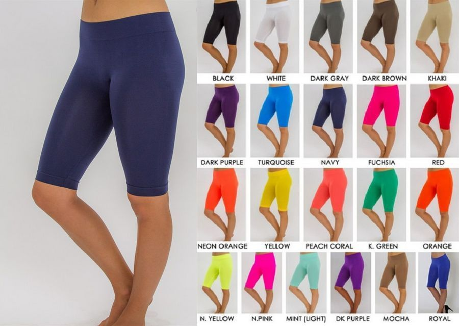 245c0dc1a3 SEAMLESS SPANDEX BERMUDA SHORTS LEGGINGS. JUST ABOVE KNEE LENGTH! a must  have item for
