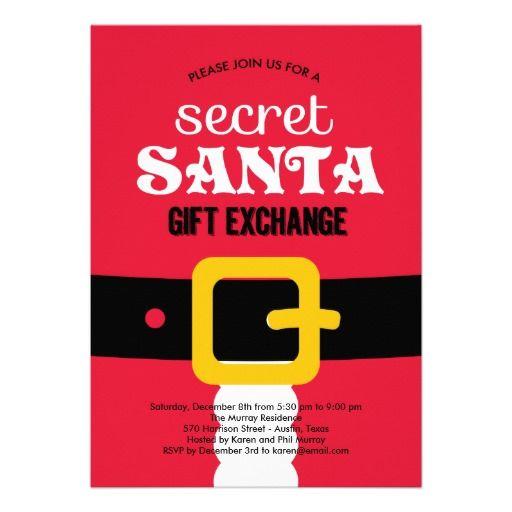 secret santa wording invite