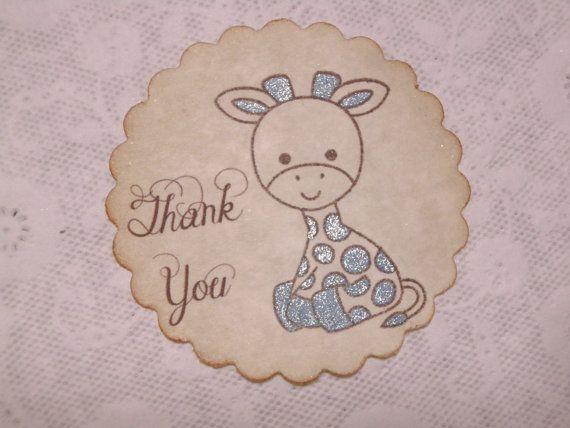 Baby Boy Shower Sticker / Thank You Sticker / Boy by FyreflyHollow