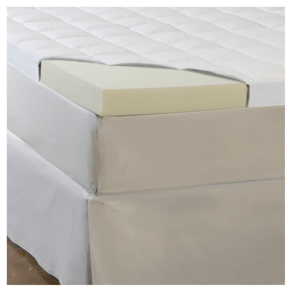 comforpedic loft from beautyrest 4 5 memory foam fiber topper