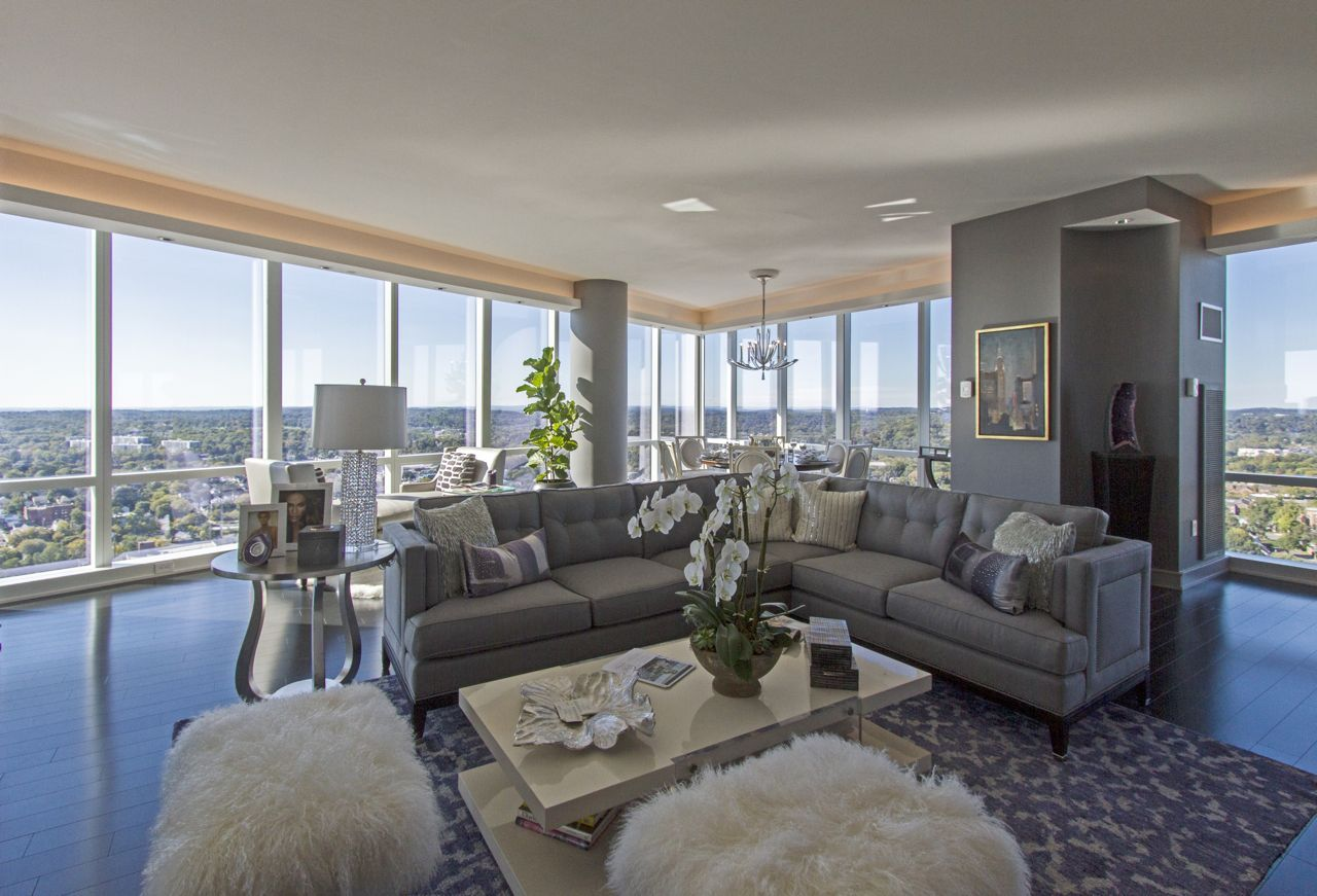Westchester Dream Home Penthouse Edition At The Ritz Carlton In White Plains Ny 10601 Living Area Vast Windowed Vista House Rooms Living Spaces Furniture