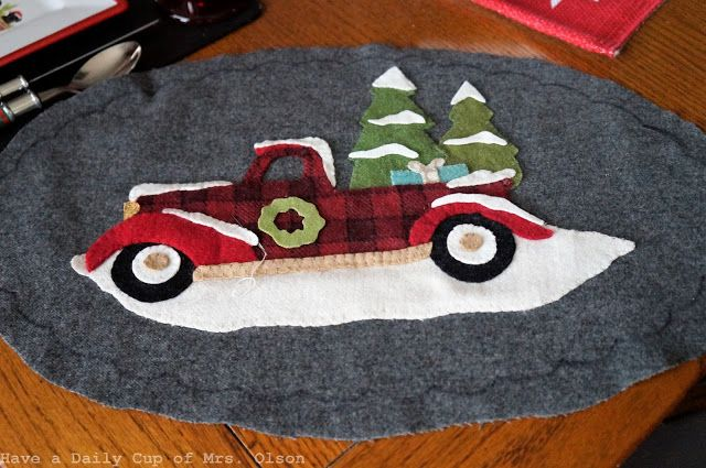 Have a Daily Cup of Mrs. Olson-wool truck mat
